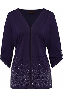 Anna Rose Embellished Jersey Cover Up