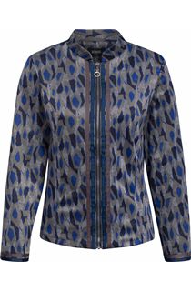 Long Sleeve Patterned Zip Jacket