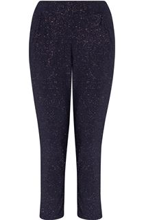 Tapered Leg Sparkle Stretch Trousers - Midnight/Rainbow