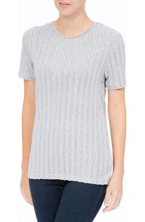 Anna Rose Short Sleeve Shimmer Top