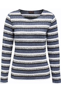 Anna Rose Sparkle Stripe Knit Top