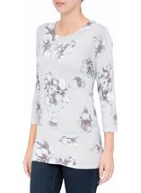 Anna Rose Lightweight Floral Knit Top