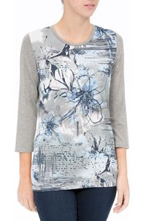 Anna Rose Printed Jersey Top