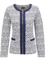 Anna Rose Printed Zip Jacket