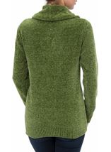 Cowl Neck Long Sleeve Chenille Top