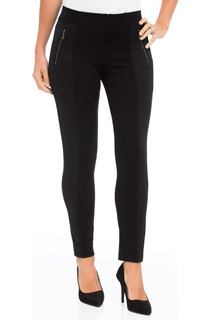 Panelled Stretch Treggings - Black