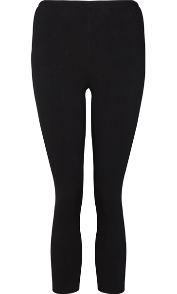 Black Cropped Leggings Black