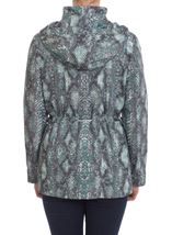 Snake Print Coat Glade Green - Gallery Image 2