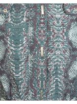 Snake Print Coat Glade Green - Gallery Image 3