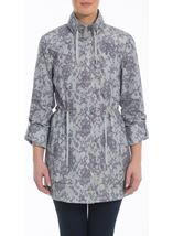 Lace Effect Coat Silver - Gallery Image 2