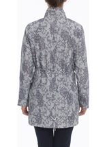 Lace Effect Coat Silver - Gallery Image 3