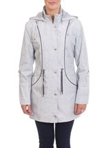 Anna Rose Knit Print Coat Silver - Gallery Image 1