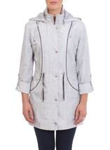 Anna Rose Knit Print Coat Silver - Gallery Image 2