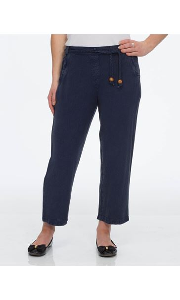 Anna Rose Washed Cropped Trousers