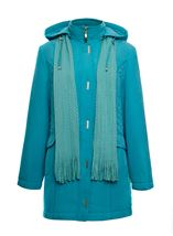 Anna Rose Casual Coat Turquoise - Gallery Image 1