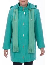 Anna Rose Casual Coat Turquoise - Gallery Image 2