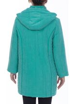 Anna Rose Casual Coat Turquoise - Gallery Image 3