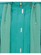 Anna Rose Casual Coat Turquoise - Gallery Image 4