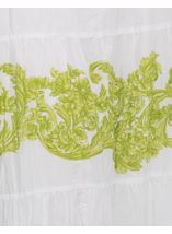 Floral Baroque Maxi Dress White/Lime - Gallery Image 3