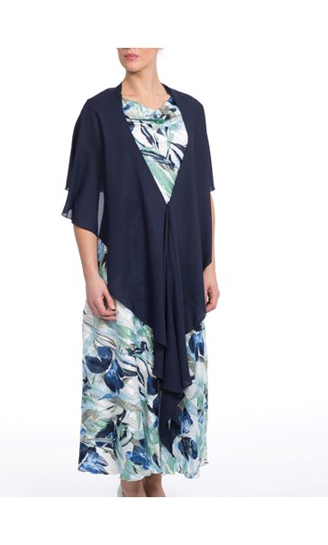 2dbed4ff48 Anna Rose Chiffon Cover Up - Navy