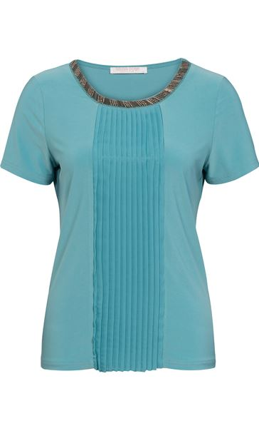 Anna Rose Embellished Top Turq