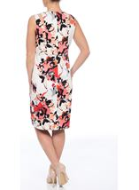 Fitted Floral Dress Coral Multi - Gallery Image 2