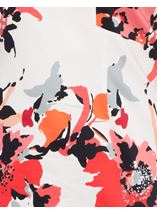 Fitted Floral Dress Coral Multi - Gallery Image 3