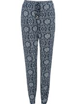 Mosaic Print Trousers Midnight - Gallery Image 1