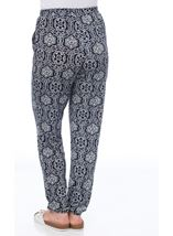 Mosaic Print Trousers Midnight - Gallery Image 3