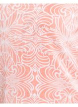 Anna Rose Printed Pleat Top Coral/White - Gallery Image 3