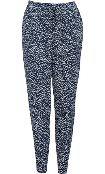 Anna Rose Tapered Trousers Navy/White