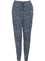 Anna Rose Tapered Trousers Navy/White - Gallery Image 1