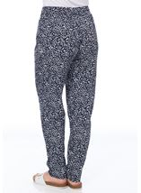 Anna Rose Tapered Trousers Navy/White - Gallery Image 3