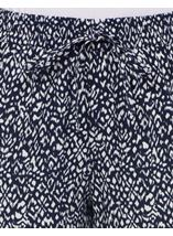 Anna Rose Tapered Trousers Navy/White - Gallery Image 4