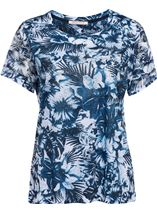 Anna Rose Embellished Top Navy/White - Gallery Image 1