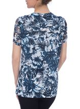 Anna Rose Embellished Top Navy/White - Gallery Image 3