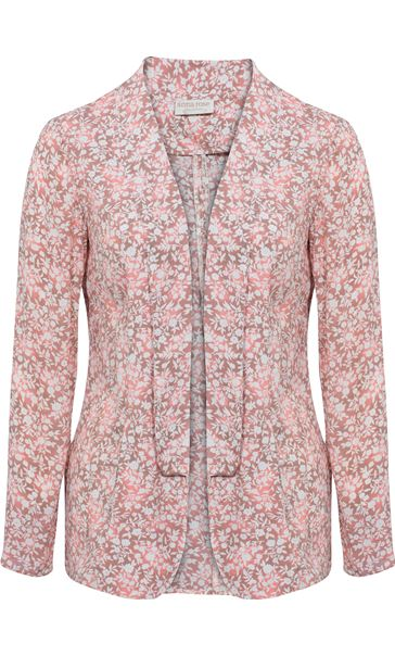 Anna Rose Open Jacket Grey/Coral