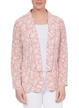 Anna Rose Open Jacket Grey/Coral - Gallery Image 2