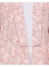 Anna Rose Open Jacket Grey/Coral - Gallery Image 4