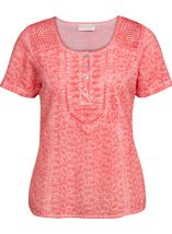 Anna Rose Broidery Anglaise Top Coral - Gallery Image 1