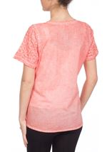 Anna Rose Broidery Anglaise Top Coral - Gallery Image 3