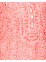 Anna Rose Broidery Anglaise Top Coral - Gallery Image 4