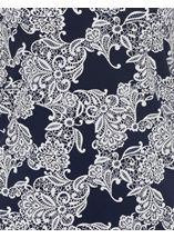 Anna Rose Lace Print Top Navy/Ivory - Gallery Image 4