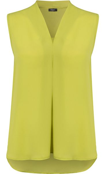 Sleeveless Georgette Top Lime