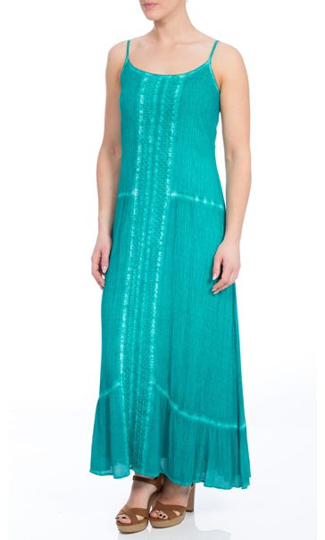 Strappy Crinkle Maxi Dress Electric Green