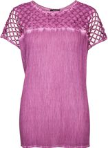 Crinkle Washed Top Dusky Pink - Gallery Image 1