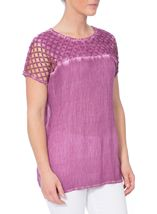 Crinkle Washed Top Dusky Pink - Gallery Image 2