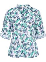 Anna Rose Three Quarter Sleeve Butterfly Blouse Lilac/Navy - Gallery Image 1