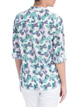 Anna Rose Three Quarter Sleeve Butterfly Blouse Lilac/Navy - Gallery Image 3