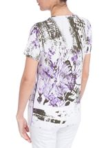 Anna Rose Butterfly Print Embellished Top White/Lilac - Gallery Image 3